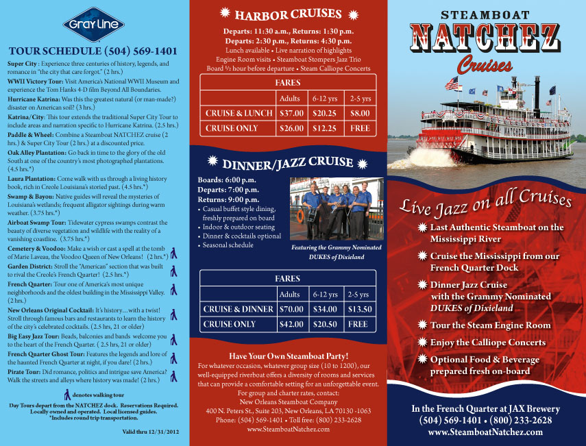 Natchez brochure