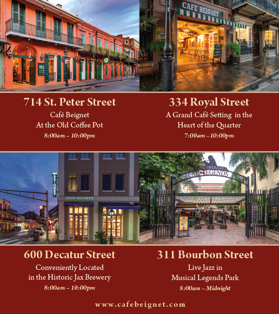 Cafe Beignet brochure