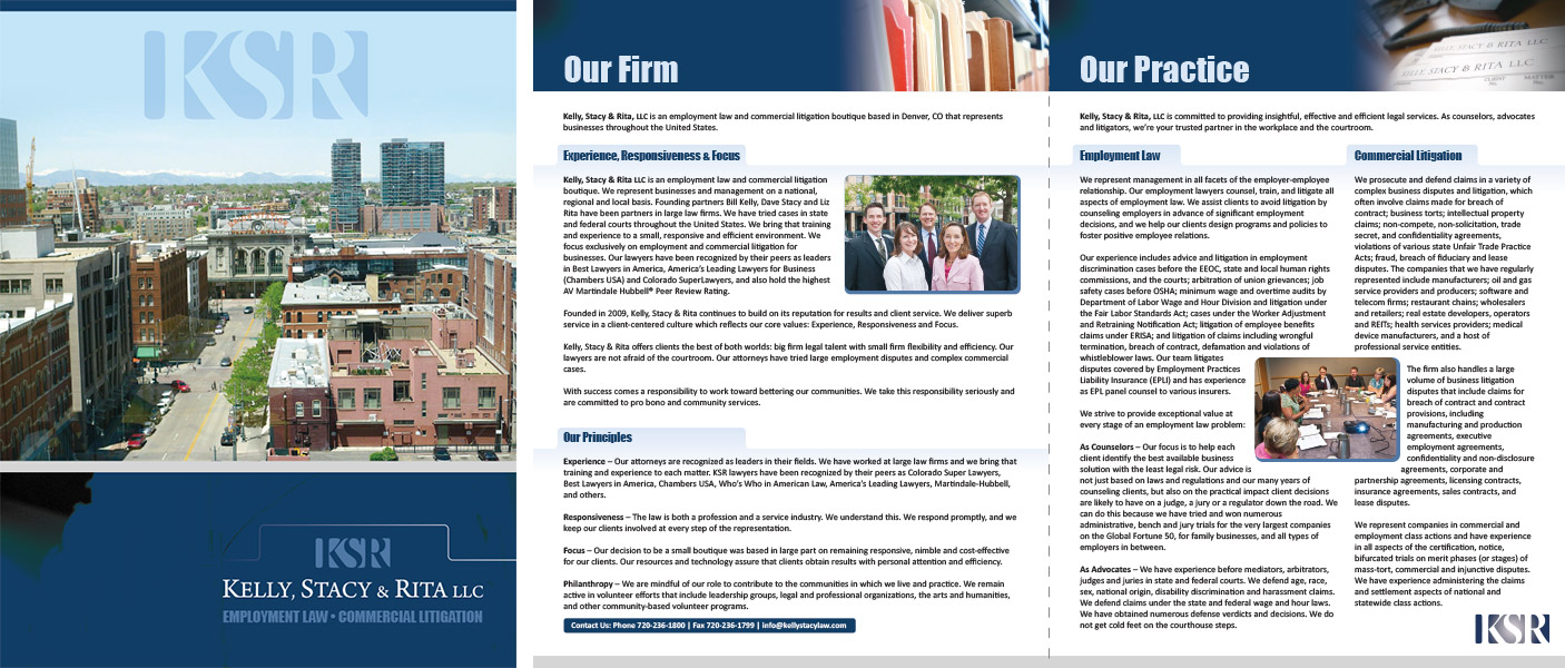 Kelly, Stacy & Rita firm brochure