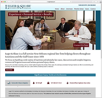 Leger & Shaw website