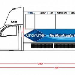 Gray Line Tour bus artwork